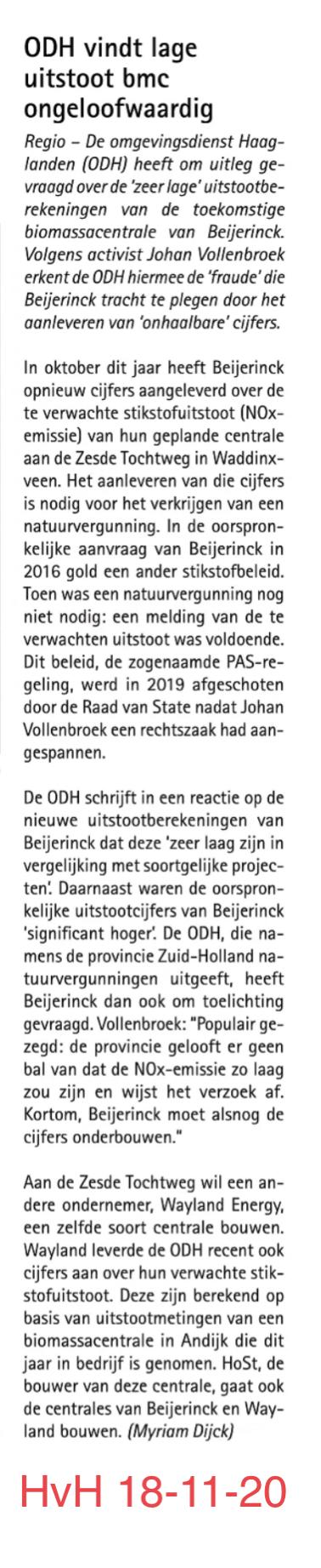 ODH vindt lage uitstoot bmc ongeloofwaardig